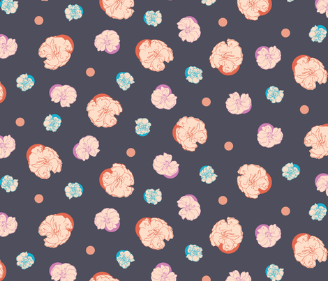 Floral Dots fabric by figandfossil on Spoonflower - custom fabric