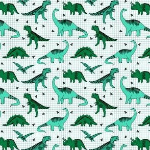 Dinos - (tiny version) Greens by Andrea Lauren