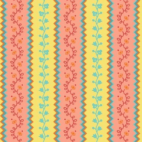 apron stripe-indian summer colorway