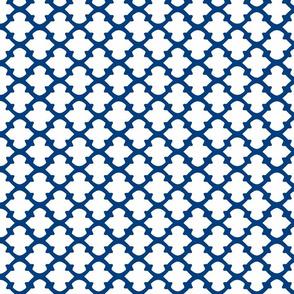 wide arrow in royal blue