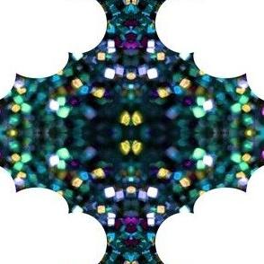 blue glitter and clouds