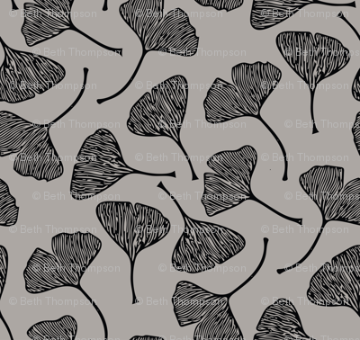 Ginkgo on Warm Gray