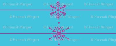 Frozen Lines of Snowflakes
