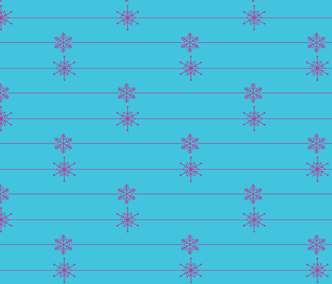 Frozen Lines of Snowflakes fabric by sunshineandspoons on Spoonflower - custom fabric