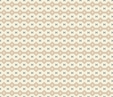Navajo Stripe Cream fabric by whitney_newman on Spoonflower - custom fabric