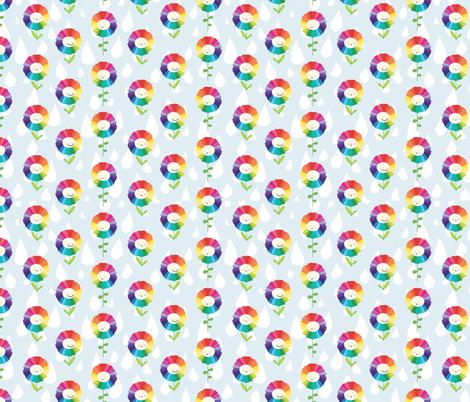 Rainbow Flowers fabric by emilyannstudio on Spoonflower - custom fabric