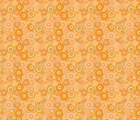 Orange_Bright_Beach_Circles-01 fabric by jenn_borek on Spoonflower - custom fabric