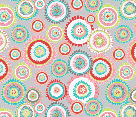 Spring Flowers fabric by joleneink on Spoonflower - custom fabric