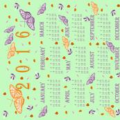 Butterflies and flowers 2016 calendar