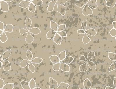 Flowerhead Texture ,taupe