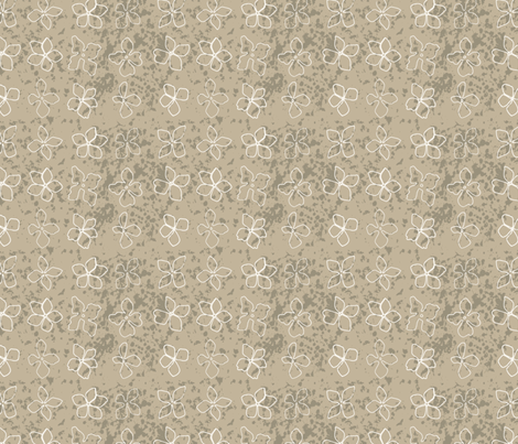 Flowerhead Texture ,taupe fabric by michellegracedesign on Spoonflower - custom fabric