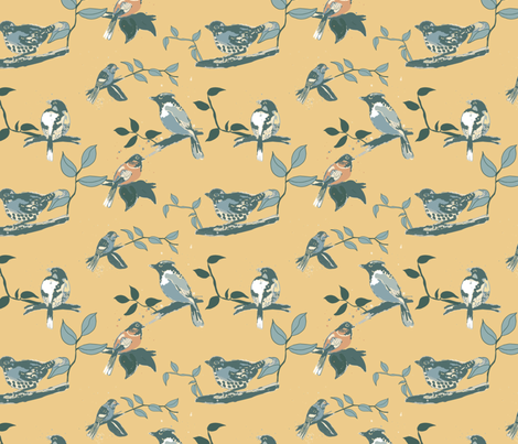 September Song, yellow fabric by michellegracedesign on Spoonflower - custom fabric
