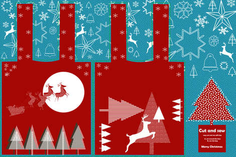 Christmas gift_bag fabric by bruxamagica on Spoonflower - custom fabric