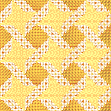Butter Yellow Ribbon Star fabric by eclectic_house on Spoonflower - custom fabric