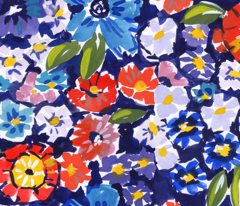 Flowers for Scarlett fabric by nataliemalan on Spoonflower - custom fabric