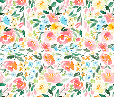 Persimmon Spring fabric by nataliemalan on Spoonflower - custom fabric