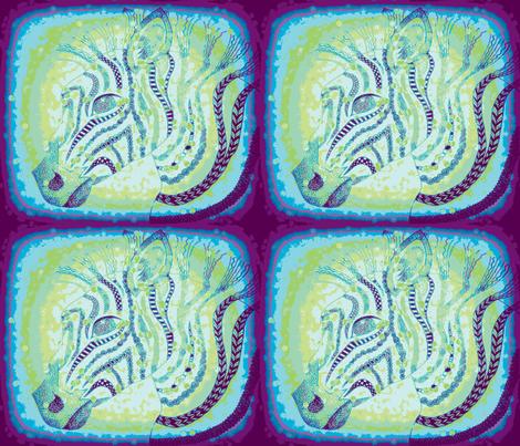 Zebra zen okovango 64 fabric by jenny_healy on Spoonflower - custom fabric