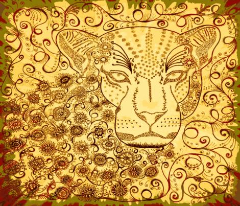 leopard zen kalahari FQ fabric by jenny_healy on Spoonflower - custom fabric