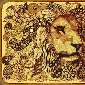 Lion zen Kalahari