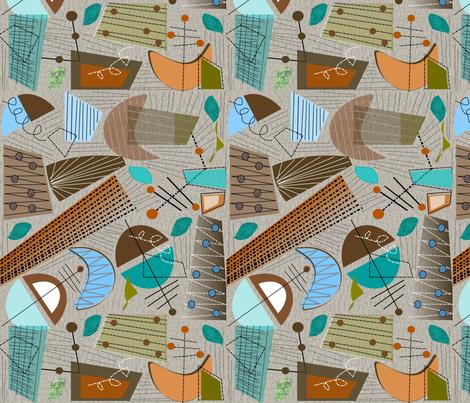 Abstract in Mid-Century II fabric by hot4tees_bg@yahoo_com on Spoonflower - custom fabric