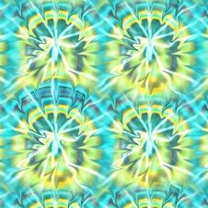 Tie-Dye Aqua and Yellow