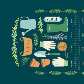 2019 Herb Garden Tea Towel Calendar