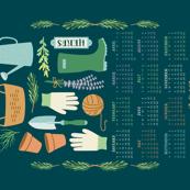 2017 Herb Garden Tea Towel Calendar