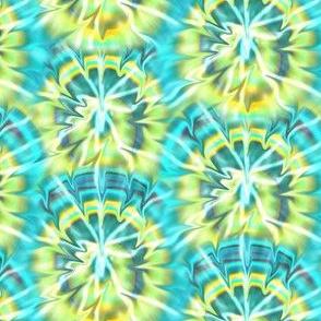 Tie-Dye Aqua and Yellow 2