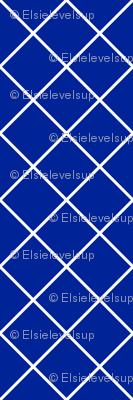 Diamonds - 2 inch - White Outlines on Dark Blue (#002398)