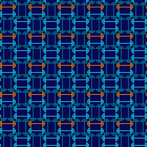 dumbbell weave fabric by tinabriggs on Spoonflower - custom fabric