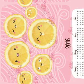 Cute lemons and doodles calendar