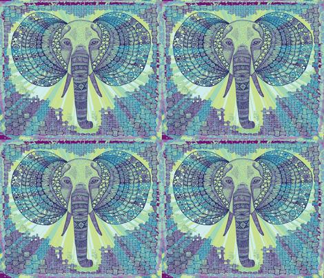 Elephant zen Okovango 64 fabric by jenny_healy on Spoonflower - custom fabric