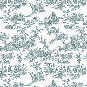 Tiny Toile Empire Blue