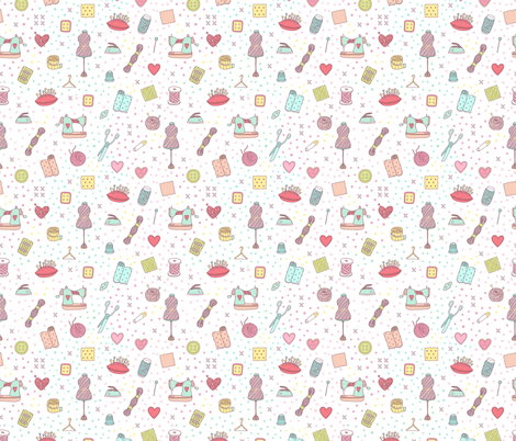 Sewign and knitting fabric by kostolom3000 on Spoonflower - custom fabric