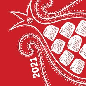 2021 Calendar, Sunday / Pomegranate