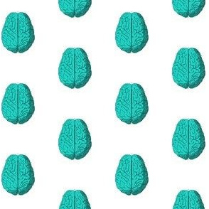 Aqua Zombie Brain Polka Dot