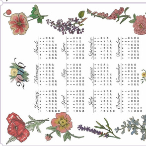 Botanical Tea Towel Calendar