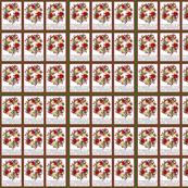 Poinsettia Wreath n snowflakes