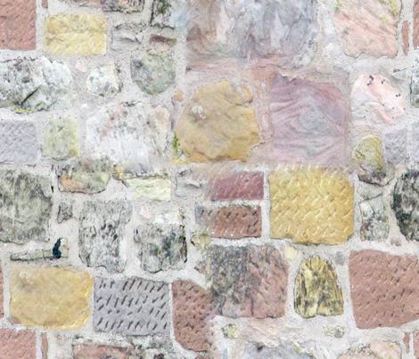 Scottish Rock Wall fabric by mypetalpress on Spoonflower - custom fabric