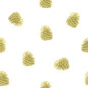 Golden pinecone