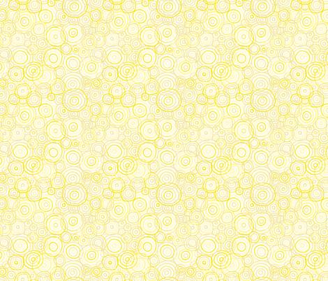 Yellow_Bright_Beach_Outlines-01 fabric by jenn_borek on Spoonflower - custom fabric