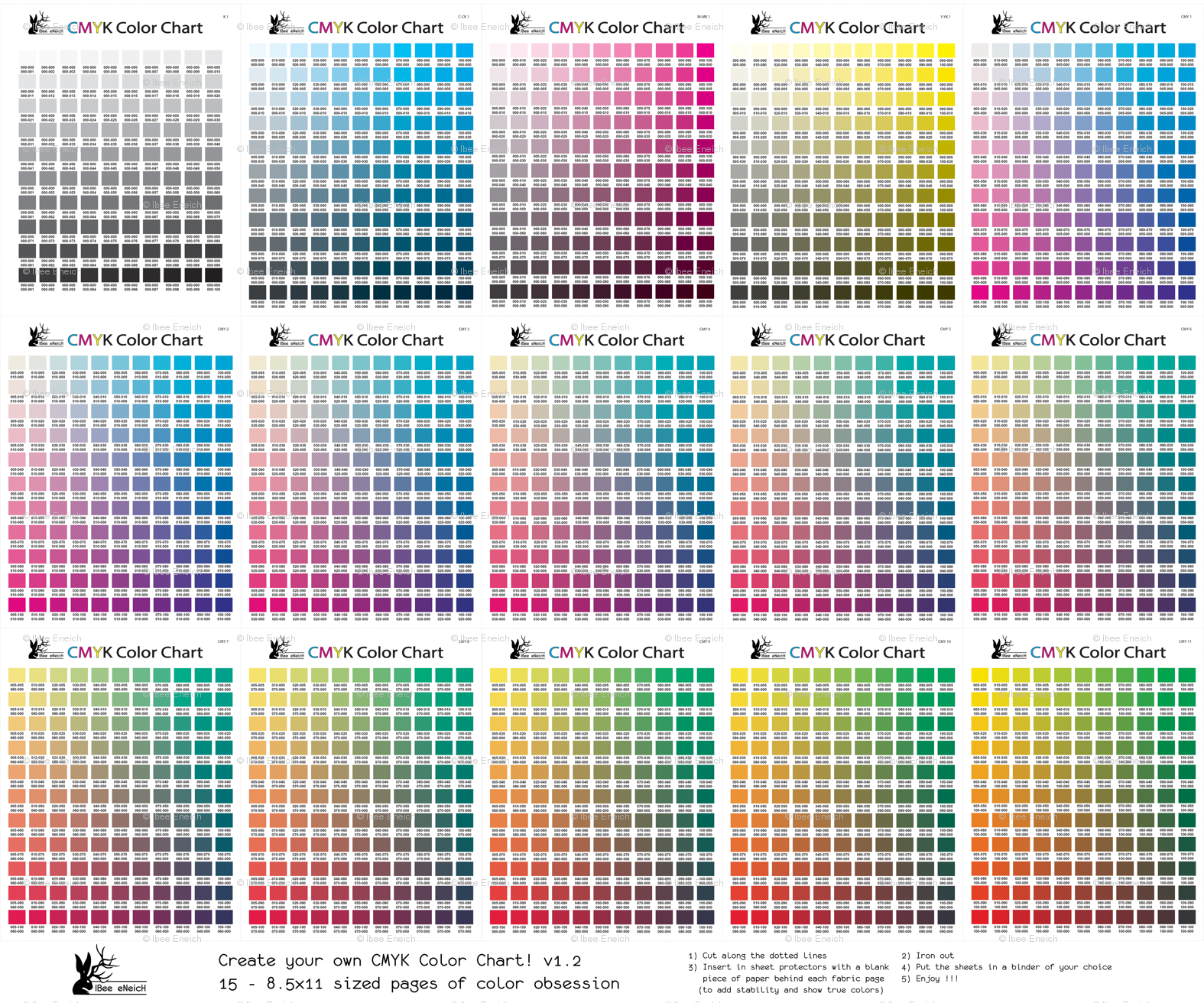 Cmyk Color Chart Part 12 1794 Colors Giftwrap Ibeeeneich