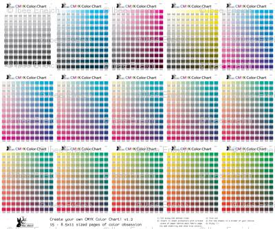 CMYK Color Chart Part 1.2   1794 Colors!