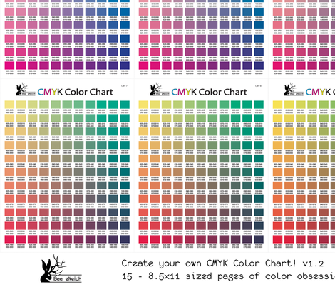 CMYK Color Chart Part 1.2   1794 Colors! Fabric By Ibee_eneich On  Spoonflower   Custom