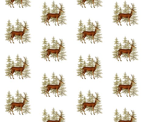 Rvintage_deer_in_woods_image_print_shop_preview