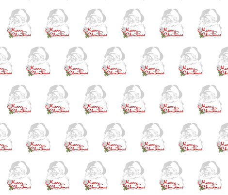 Merry Christmas Santa fabric by jennifer_rizzo on Spoonflower - custom fabric