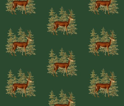 Rvintage_deer_in_woods_green_shop_preview
