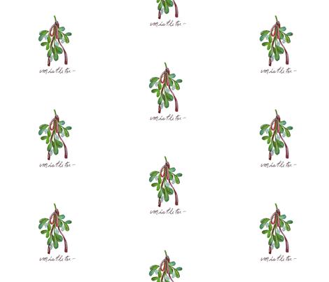 Mistletoe_hanging fabric by jennifer_rizzo on Spoonflower - custom fabric