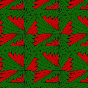 Zentangle Green and Red