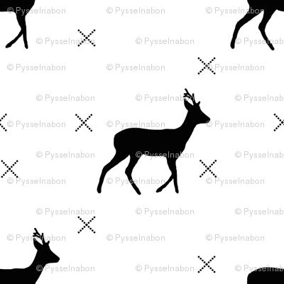 Deer w cross